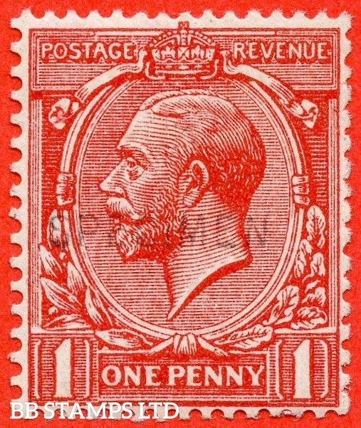 SG. N17A s. 1d pale scarlet. SOMERSET HOUSE EXPERIMENTAL PRINTING. A fine UNMOUNTED MINT example of this very scarce printing overprinted SPECIMEN type 30. A RARE stamp.