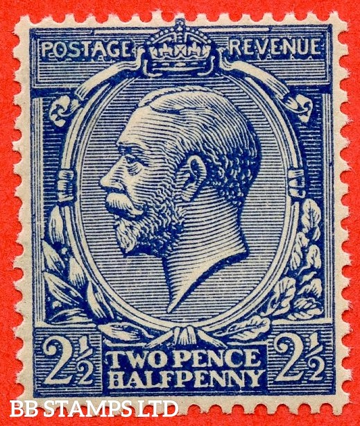 SG. 373 variety N21 (15). 2½d Indigo Blue ( toned paper ). A superb UNMOUNTED MINT example of this VERY RARE George V shade. Complete with RPS certificate.