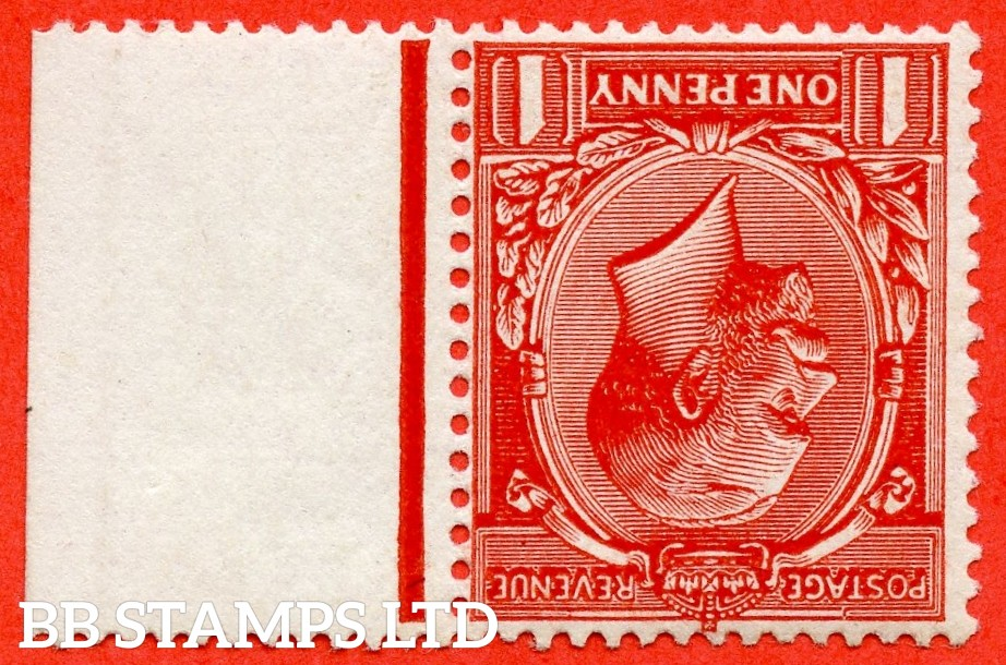 SG. 361 wi. N16 (14) b. 1d Scarlet - Vermilion. INVERTED WATERMARK. A very fine UNMOUNTED MINT right hand marginal example complete with BRANDON certificate.