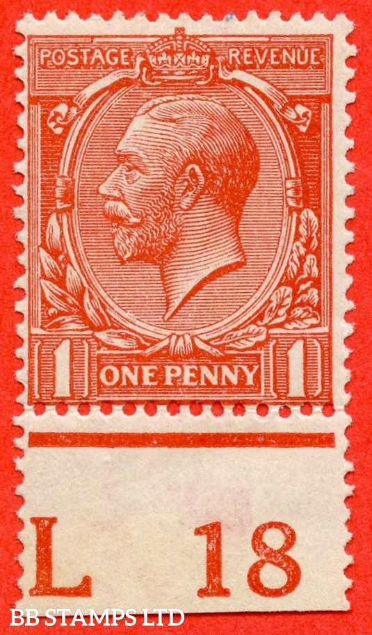 "SG. N16 (15). 1d Orange - Vermilion. A very fine UNMOUNTED MINT control "" L18 perf "" example of this scarce shade complete with RPS certificate."