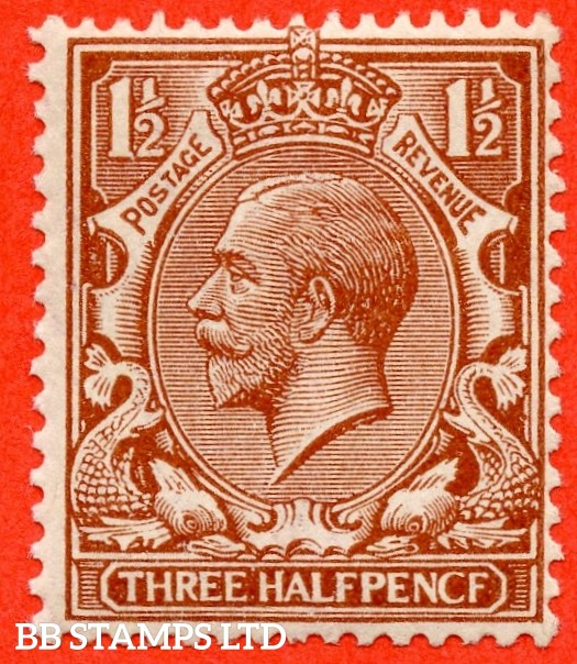 """SG. 362 a. N18 (1) e. 1½d red - brown """"PENCF"""" error. A super UNMOUNTED MINT example of this classic George V variety."""