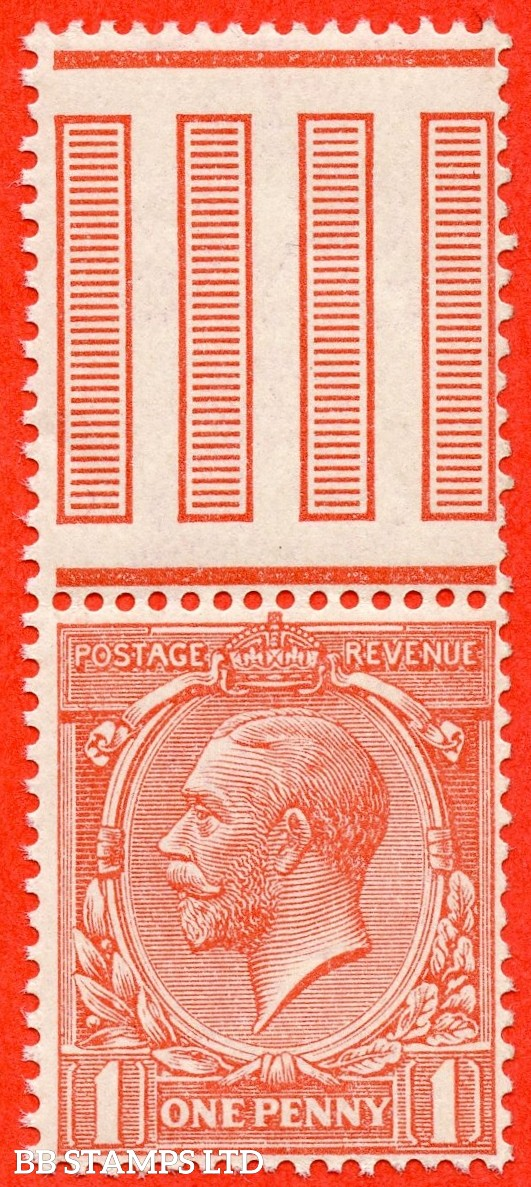 """SG. N16 (10). 1d Pink. A very fine UNMOUNTED MINT top """" INTERPANNEAU """" marginal example of this difficult George V shade variety complete with RPS certificate."""
