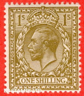 SG. N32 (10). 1/- deep bronze - brown. A superb very lightly mounted mint example of this RARE and underrated George V shade variety complete with RPS certificate.