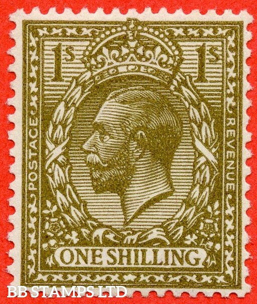SG. N32 (10). 1/- deep bronze - brown. A superb UNMOUNTED MINT example of this RARE and underrated George V shade variety complete with RPS certificate.