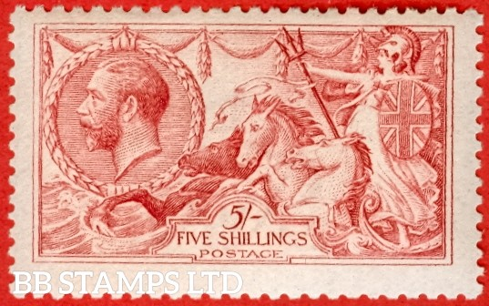 SG. 409. N67 ( 2 ). 5/- Carmine. A fine UNMOUNTED MINT example with excellent perfs.