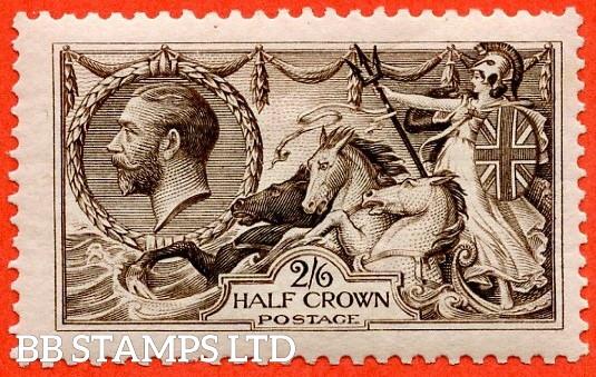 SG. 399. N63 (2). 2/6 Deep Sepia - Brown. A fine mounted mint example.