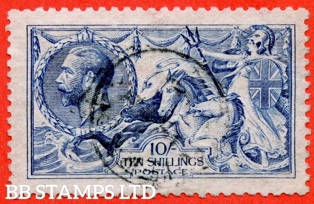 SG. 412. N70 (1). 10/- blue. A very fine CDS used example.