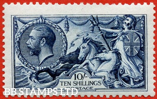 SG. 402. N69 (1). 10/- Indigo - blue. A very fine UNMOUNTED MINT example.