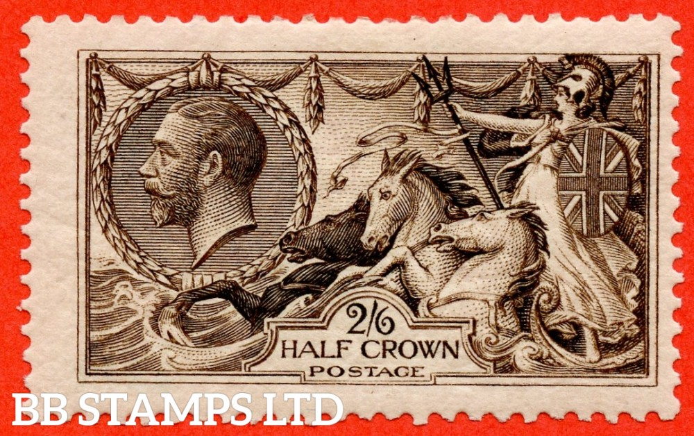 "SG. 399. N63 (2) a. 2/6 Deep Sepia Brown. A fine lightly mounted mint example with the listed "" Re-entry. ( Plate HV3. Row 2/1 ) variety. Complete with RPS certificate."