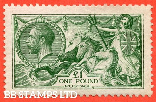 SG. 403. N72 (1). £1.00 Green. A fine mounted mint example.