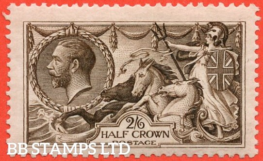 SG. 399. N63 ( 2 ). 2/6 Deep Sepia Brown. A super lightly mounted mint example.