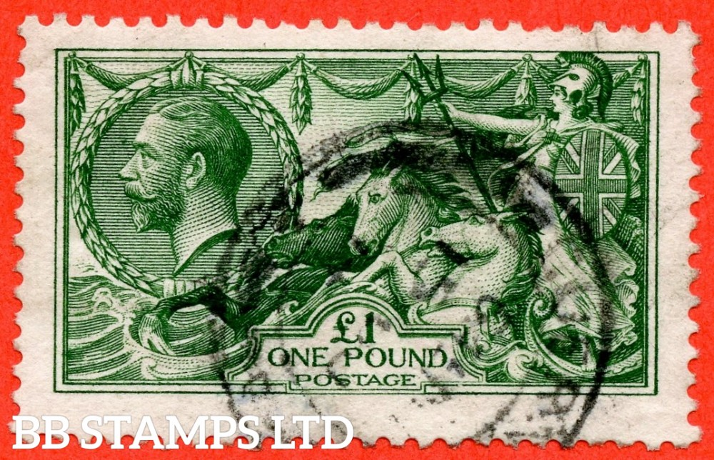 """SG. 403. Variety N72 (2). £1.00 deep green. A fine """" GUERNSEY """" CDS used example."""