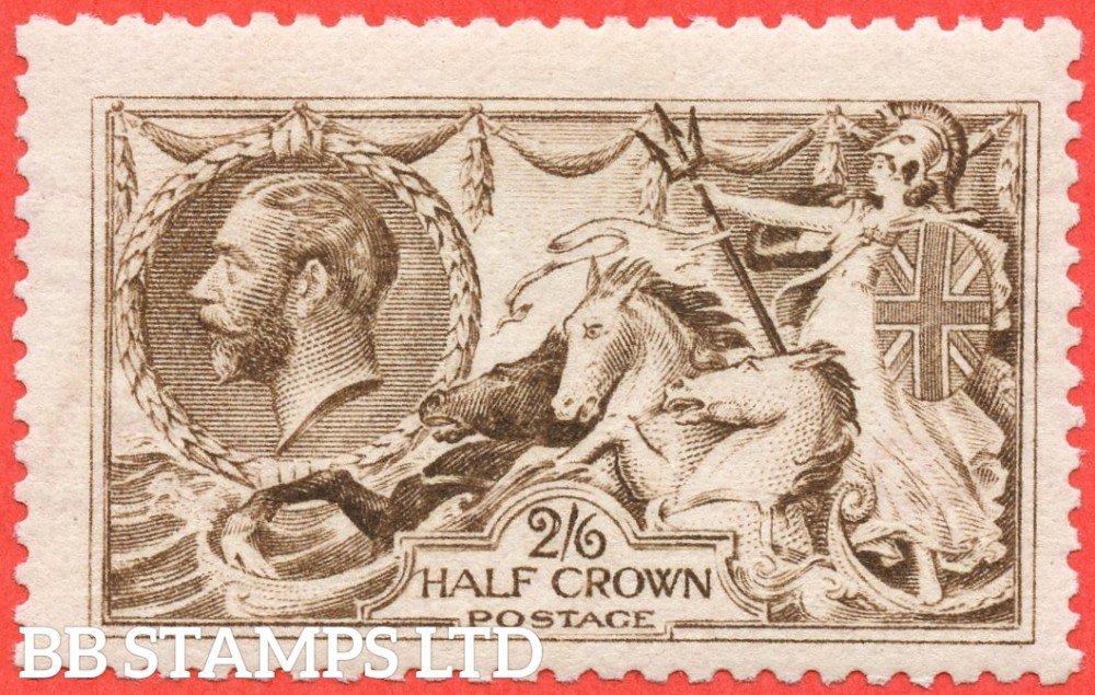 SG. 407 wj. N64 (3) g. 2/6 grey brown. REVERSED WATERMARK. A very fine UNMOUNTED MINT example.