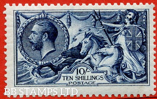 SG. 402. N69 (2). 10/- Indigo. A very fine UNMOUNTED MINT example with excellent perfs.