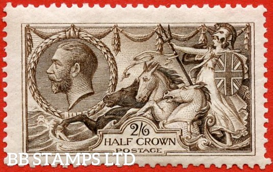 SG. 399. N63 ( 1 ). 2/6 Deep Sepia Brown. A fine lightly mounted mint example.