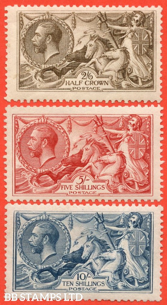 SG. 413a / 417. N65 - N71. 2/6 - 10/- A complete set of three UNMOUNTED MINT. Becoming a difficult set to put together these days.