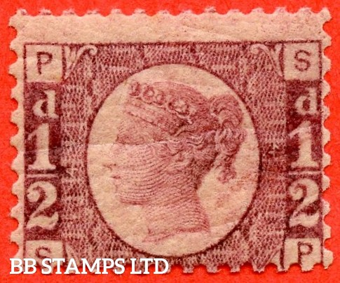 "SG. 48/49. G4. "" SP "". ½d rose - red plate 4 . A fine UNMOUNTED MINT example."