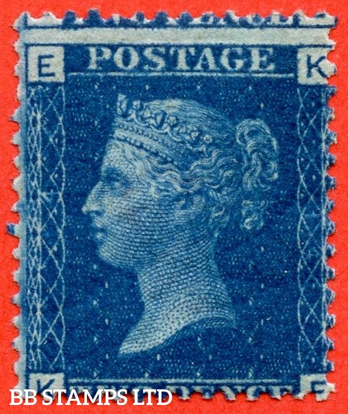 "SG. 46/47. G3."" KE "". 2d blue. Plate 14. A fine UNMOUNTED MINT example."