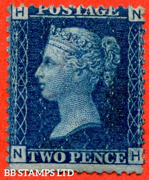 """SG. 46. G3 (1). """" NH """". 2d blue. Plate 13. A fine mounted mint example."""