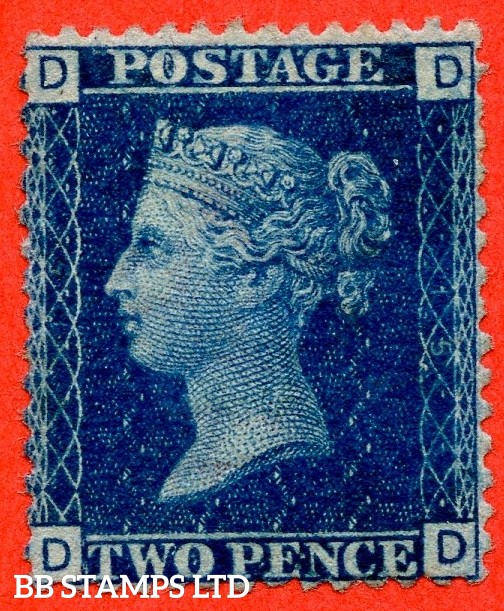 """SG. 46. G3 (1). """" DD """". 2d Blue. Plate 15. A fine UNMOUNTED MINT example."""