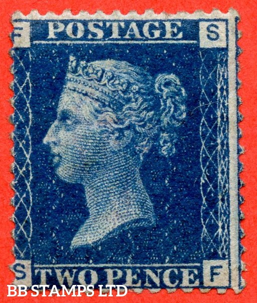 "SG. 47. G3 (2). "" SF "". 2d deep blue. Plate 15. A fine mounted mint example."