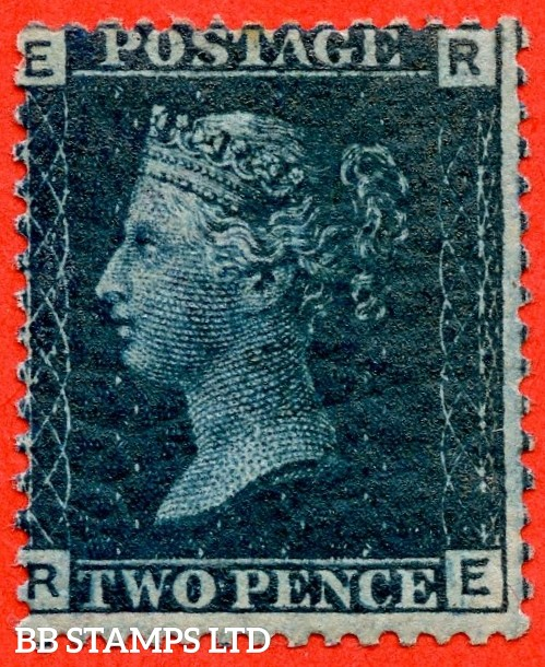 "SG. 47. G3 (2). "" RE "". 2d deep blue. Plate 15. A fine UNMOUNTED MINT example."