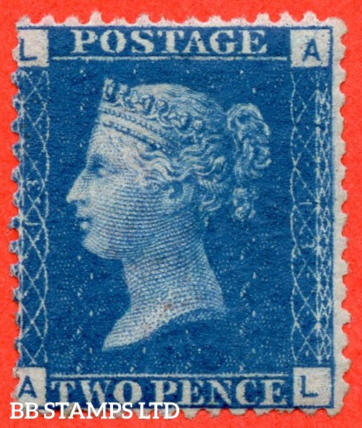 """SG. 46. G3 (1). """" AL """". 2d blue. Plate 13. A fine mounted mint example."""