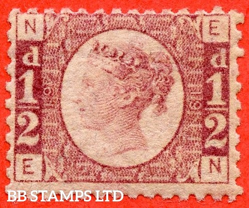 """SG. 48/49. G4. """" EN """". ½d rose - red plate 19. A fine UNMOUNTED MINT example."""