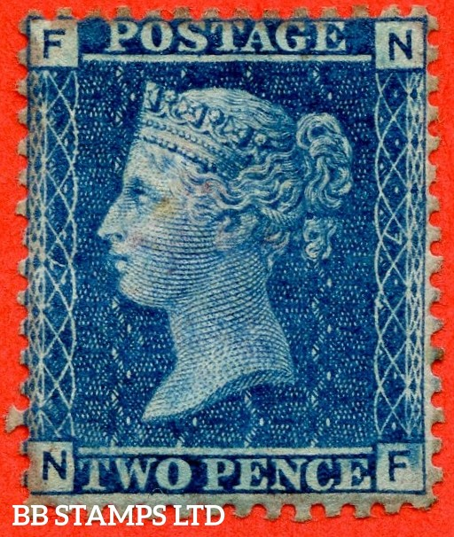 "SG. 45. G2. "" NF "". 2d blue. Plate 7. A fine mounted mint example."