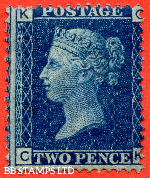 """SG. 46/47. G3."""" CK """". 2d blue. Plate 15. A fine UNMOUNTED MINT example."""
