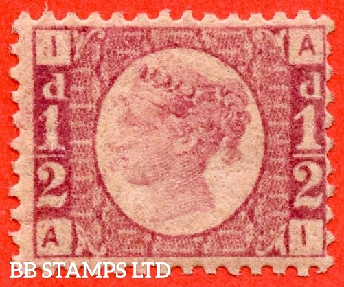 """SG. 48/49. G4. """" AI """". ½d rose - red plate 1. A fine UNMOUNTED MINT example."""