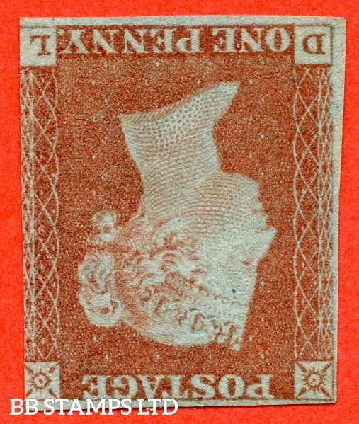 "SG. 8 wi. B1 (1) c. "" DL "". 1d red brown. INVERTED WATERMARK. A fine mounted mint example. 3 margins but RARE mint."