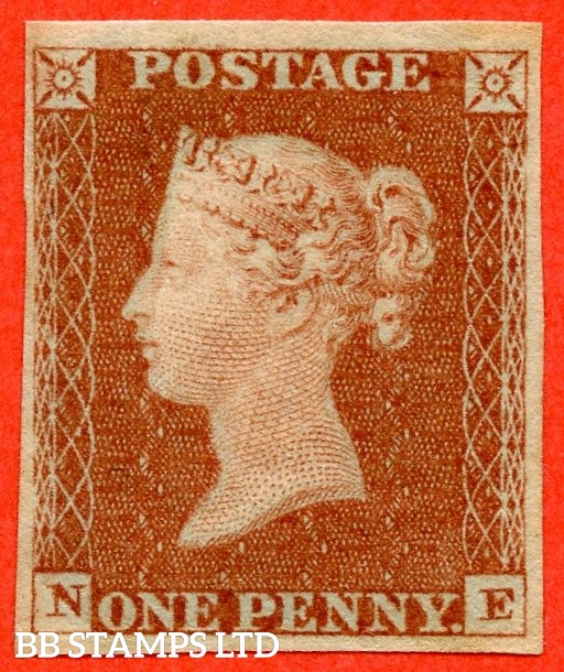 """SG. 8. B1 (1). """" NE """". 1d red brown.  A super UNMOUNTED MINT example."""