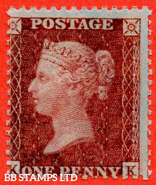 "SG. 30. C8 (2). "" KK "". 1d brick red. A superb UNMOUNTED MINT example."