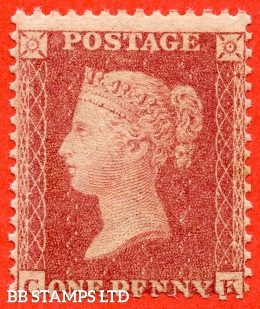 "SG. 40 variety C13 (2). "" CK "". 1d pale rose-red. Plate R15. A fine UNMOUNTED MINT example."