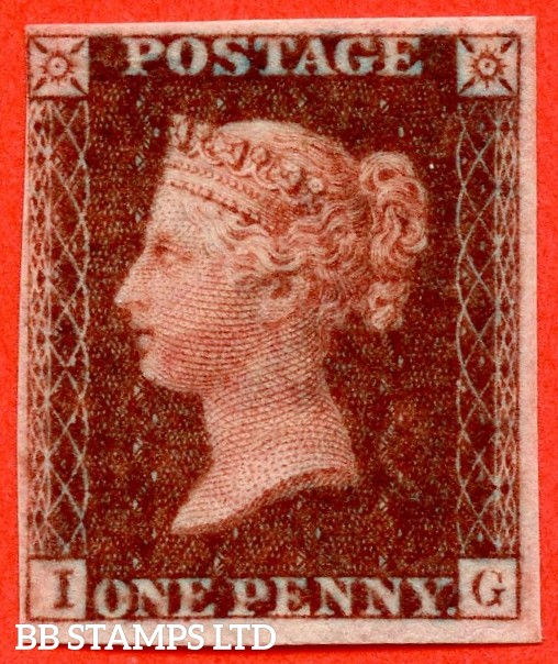 """SG. 29. C8. """" IG """". 1d Red-brown. Plate 32. IMPRIMATUR. A fine example of this scarce Victorian issue."""