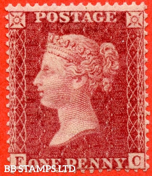 """SG. 36. C11. """" FC """". Plate 37. A very fine UNMOUNTED MINT example of this RARE mint Victorian issue. This being one of the RARER plates of C11."""