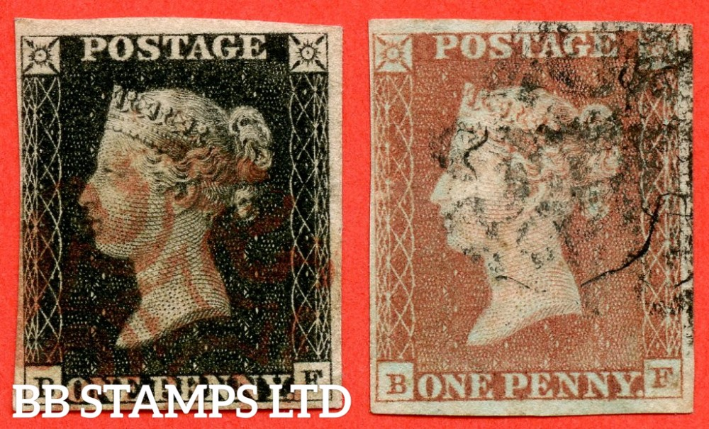 """SG. 2 & 7. AS5 & AS6. """" BF """". Plate 1b. A fine used matched pair. With the constant variety """" Ray Flaws 10 / 7 NW SQ. """"."""