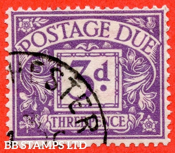 """SG. D14c. R14b. 3d Dull violet. """" Experimental paper """". A very fine used example of this RARE used stamp."""