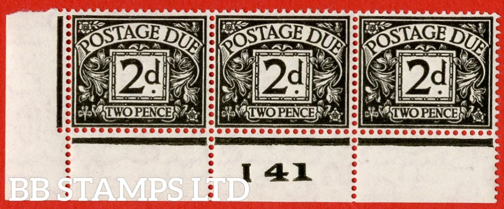 "SG. D29. R29. 2d agate.  A fine UNMOUNTED MINT "" control I41 perf "" strip of 3. A scarce multiple."