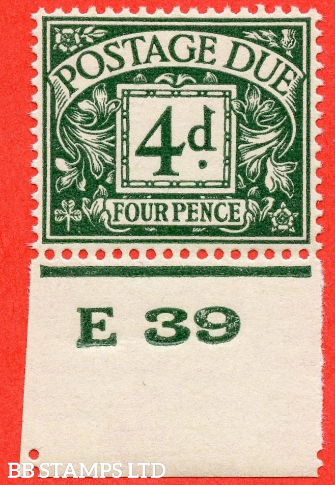 "SG. D31. R31. 4d dull grey - green. A fine UNMOUNTED MINT control "" E39 imperf "" example."