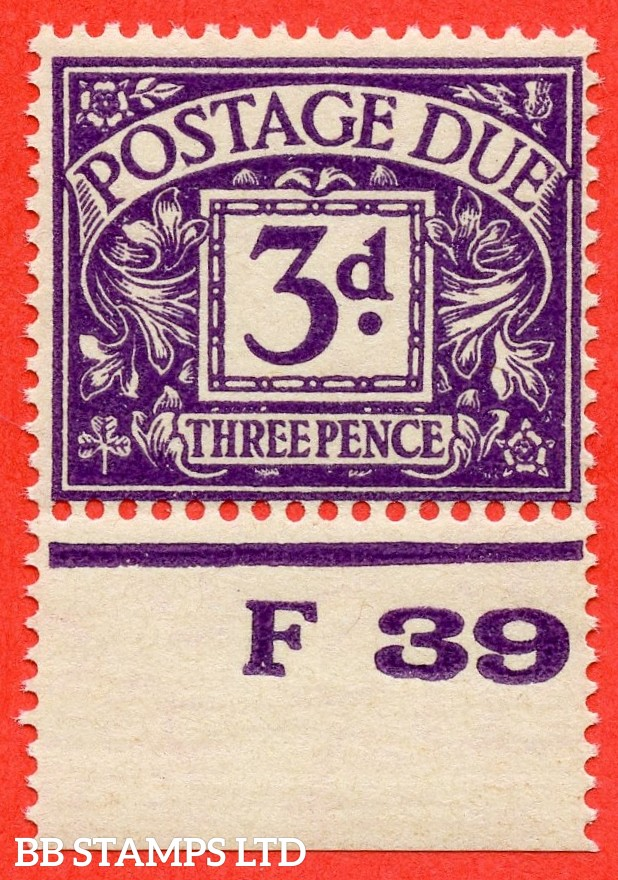 """SG. D30. R30. 3d violet. A fine UNMOUNTED MINT control """" F39 perf """" example."""