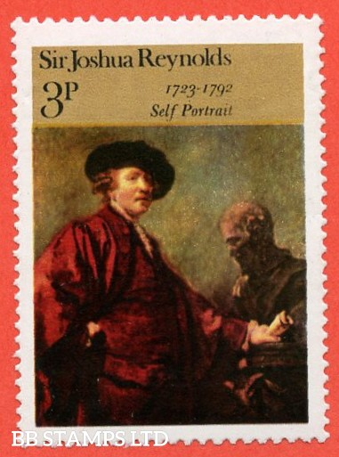 """SG. 931 a. 3p 1973 """" PAINTINGS """". A superb UNMOUNTED MINT example with the scarce variety """" MISSING GOLD -- QUEENS HEAD """" error."""