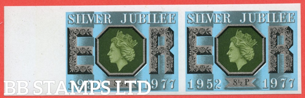 "SG. 1033 a. 8½p 1977 "" SILVER JUBILEE "". IMPERF error. A superb UNMOUNTED MINT left hand marginal horizontal pair."
