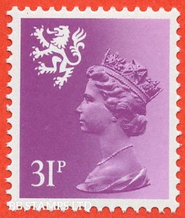 SG. S51 Ea. 31p bright purple. Type II. A super UNMOUNTED MINT example of this very scarce regional.