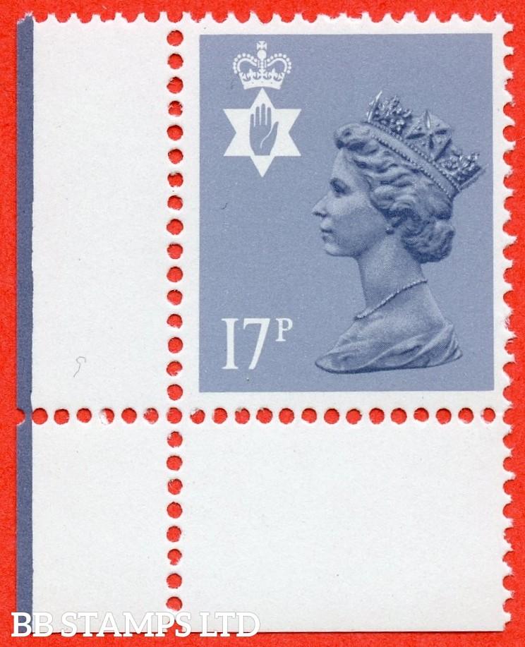 SG. NI43 Ea. 17p grey - blue. Type II. A very fine UNMOUNTED MINT bottom left hand corner marginal example.
