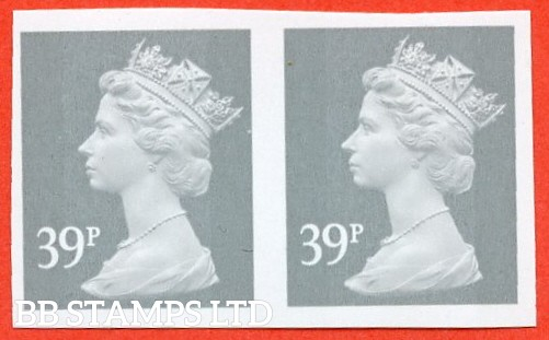 """SG. Y1709 a. 39p grey. A superb UNMOUNTED MINT """" IMPERF """" error horizontal pair."""