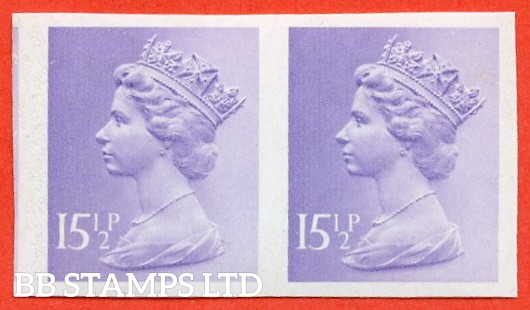 "SG. X948 a. 15½p pale violet. A superb UNMOUNTED MINT "" IMPERF "" error horizontal pair."