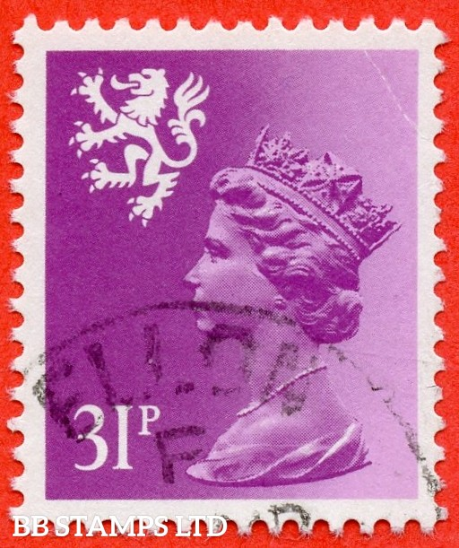 SG. S51 Ea. 31p bright purple. Type II. A very fine CDS used example example of this very scarce regional.