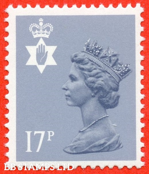 SG. NI43 Ea. 17p grey - blue. Type II. A very fine UNMOUNTED MINT example of this very difficult regional.